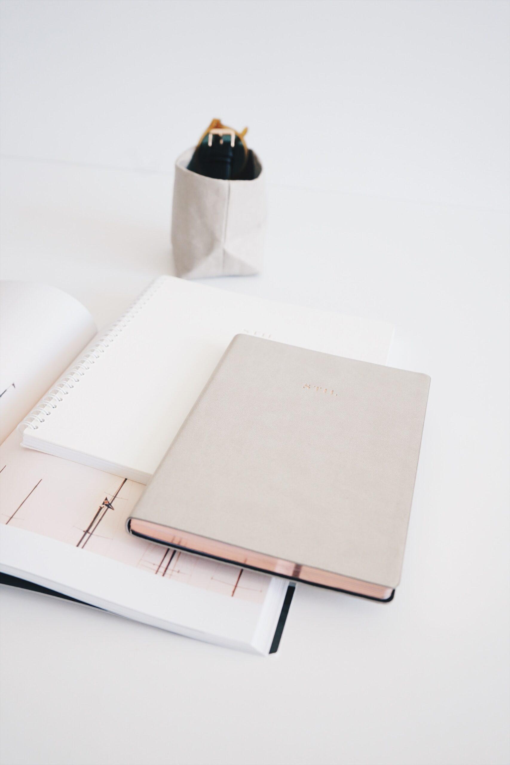Calendar and planner on desk